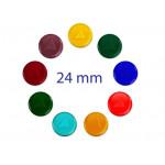 Tachyon glascel gekleurd 24 mm.